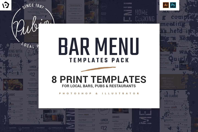 Bar Menu Templates Pack
