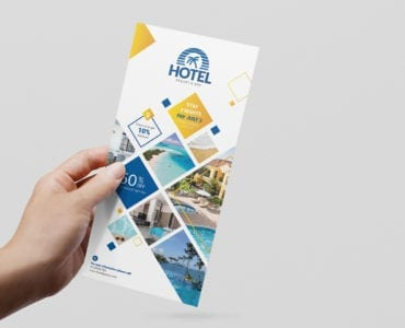 Hotel DL Rack Card Flyer Template