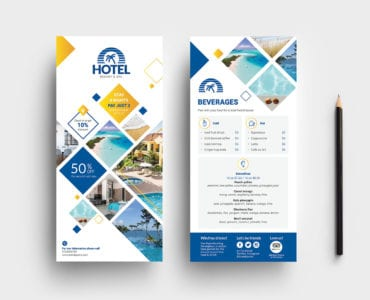 Hotel DL Rack Card Template