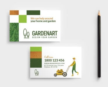Landscaper Business Card Template in PSD & Vector