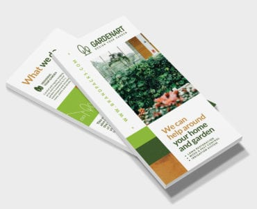 Landscaper DL Rack Card Template