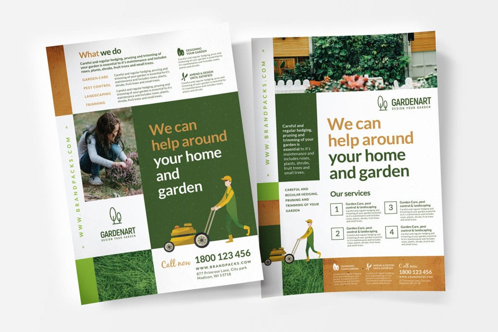 A4 Landscaper Flyer/Poster Templates in PSD & Vector