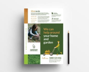 A4 Landscaper Flyer/Poster Template in PSD & Vector