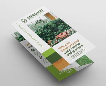 Landscaper Tri-Fold Brochure Template (Front)