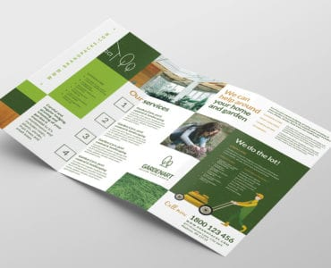 Landscaper Tri-Fold Brochure Template (Inside)