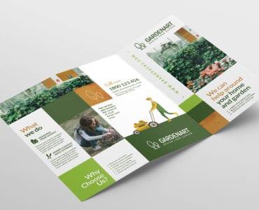 Landscaper Tri-Fold Brochure Template (Outside)