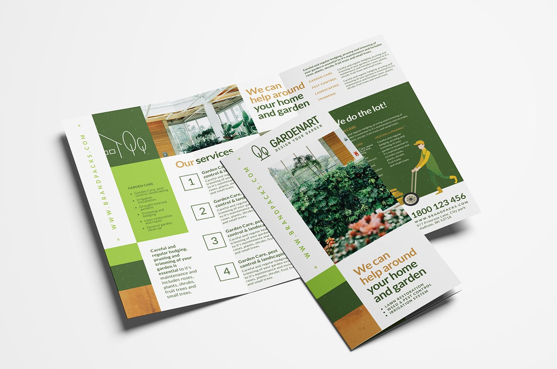 Landscaper Tri-Fold Brochure Template