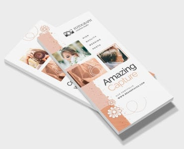 Photography Service DL Rack Card Template