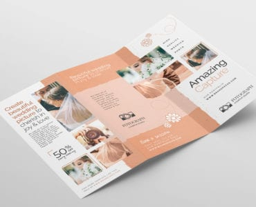 Photography Service Tri-Fold Brochure Template (Outside)