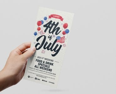 4th of July Flyers Template