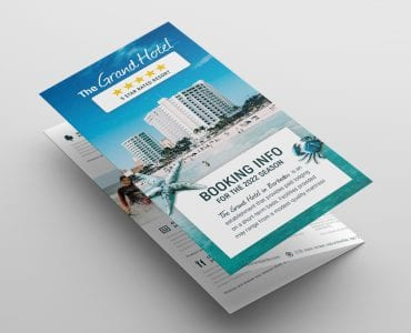 Hotel Tri-Fold Brochure Template Front
