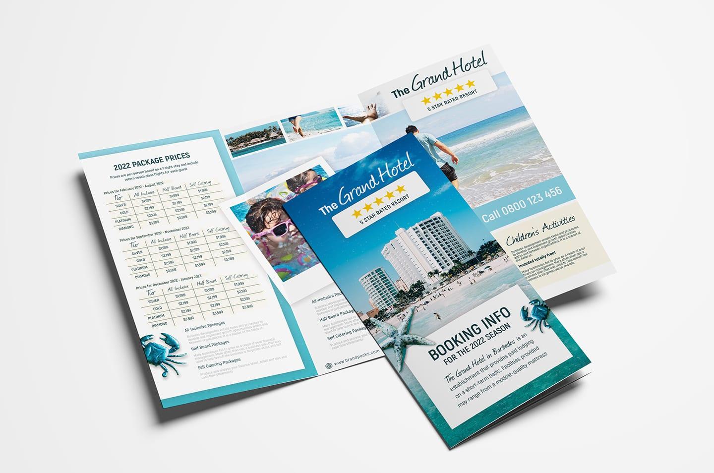 Hotel Tri-Fold Brochure Template