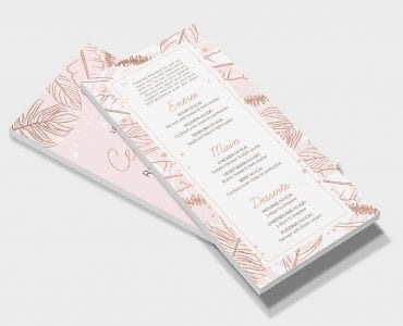 Rose Gold Wedding DL Card Template