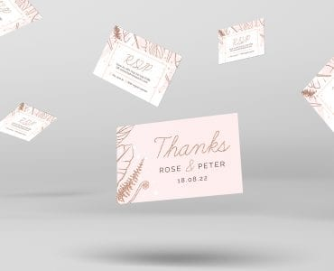 Rose Gold Wedding RSVP Card Template