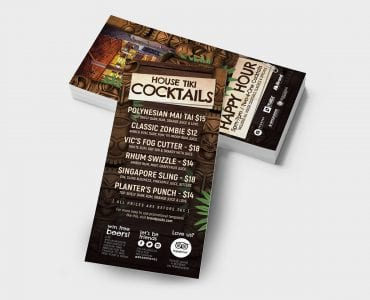 Tiki Bar DL Card Template Back