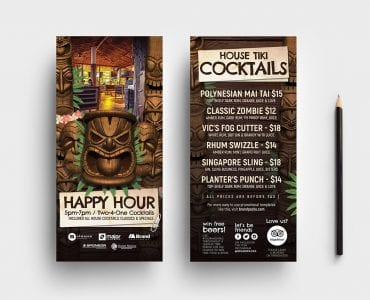Tiki Bar DL Card Templates