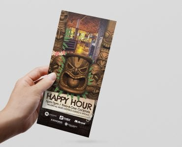 Tiki Bar DL Flyer Template
