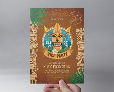 Tiki Bar Flyer Template Front