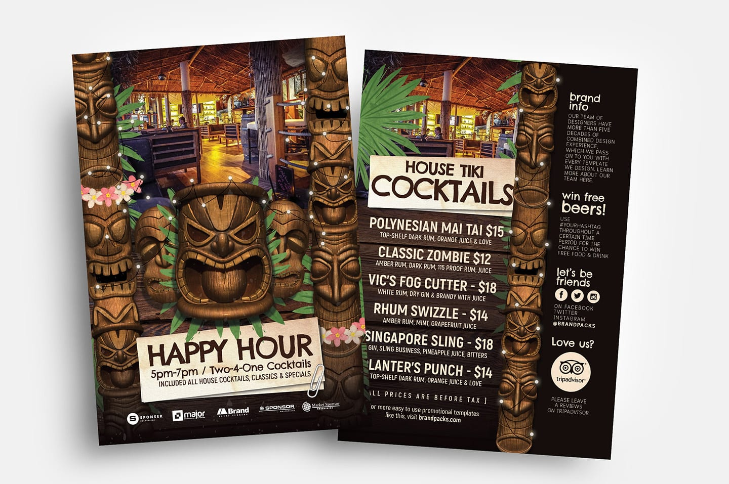 Tiki Bar Flyer Templates