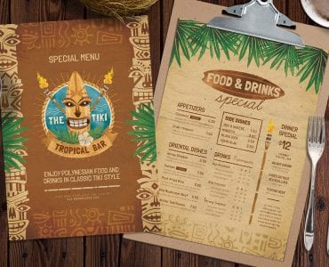 Tiki Menu Templates