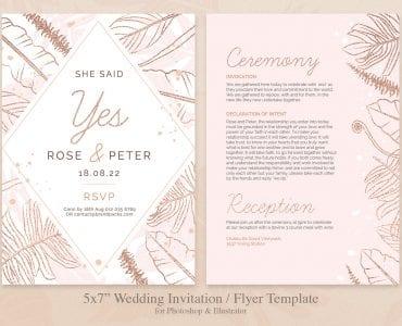 Wedding Stationery Flyer/Invitation Template