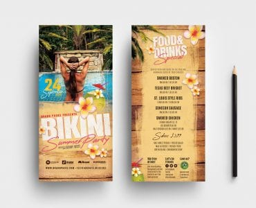 Bikini Party DL Card Templates