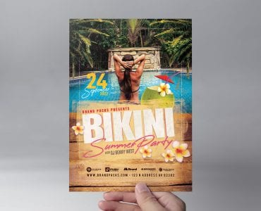 Bikini Party Flyer Template (Front)