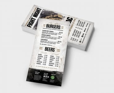 Boxing Fight Night DL Card Template