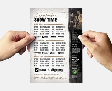 Boxing Fight Night Flyer Template (Back)