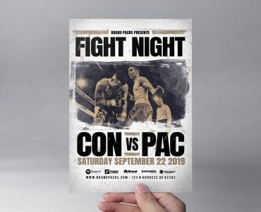 Boxing Fight Night Flyer Template (Front)