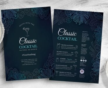Cocktail Flyer Template