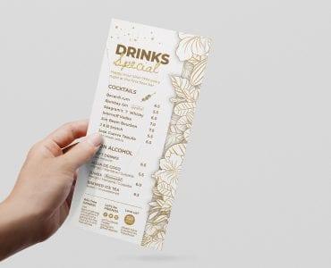 DL Cocktail Menu Template Front