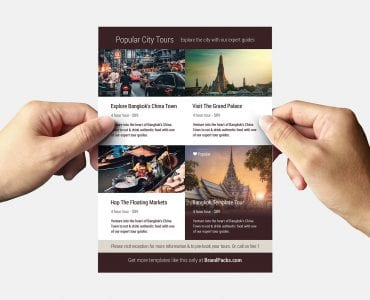 Hotel Flyer Template Back