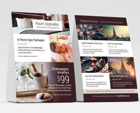 Hotel Table Tent Templates
