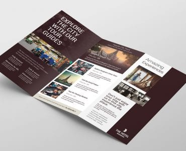 Hotel Tri-Fold Brochure Template Inside