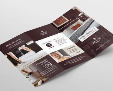 Hotel Tri-Fold Brochure Template Outside
