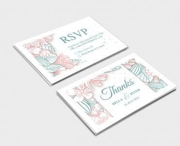 Floral Wedding RSVP Card Template