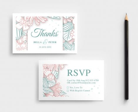 Floral Wedding RSVP Card Template