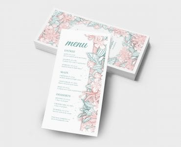 Modern Floral Wedding DL Card Template