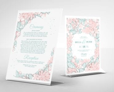 Modern Floral Wedding Invitation Templates