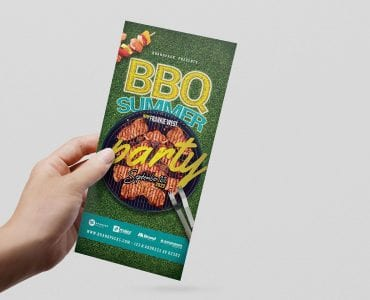 BBQ Party DL Card Template