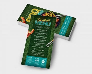 BBQ Party DL Card Template Back