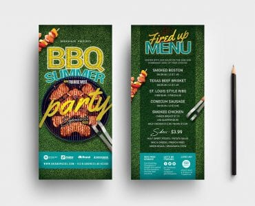 BBQ Party DL Card Templates