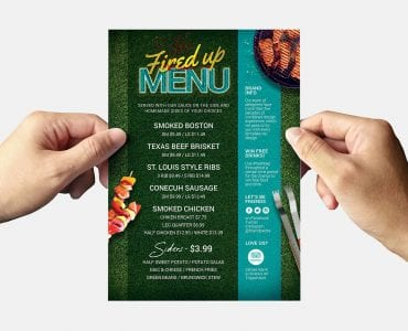 BBQ Party Flyer Template (back)