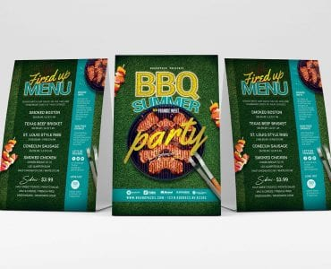 BBQ Table Tent Templates