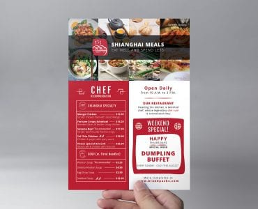 Chinese Restaurant Flyer Template (Front)
