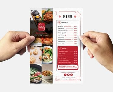 Chinese Restaurant Flyer Template (Back)