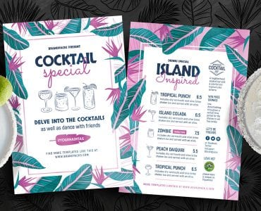 Cocktail Bar Flyer Templates