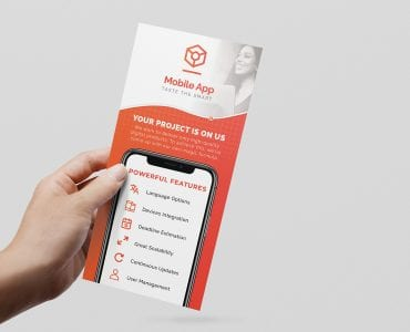 Mobile App DL Rack Card Template