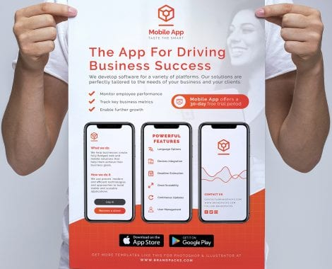 Mobile App Poster/Banner Template